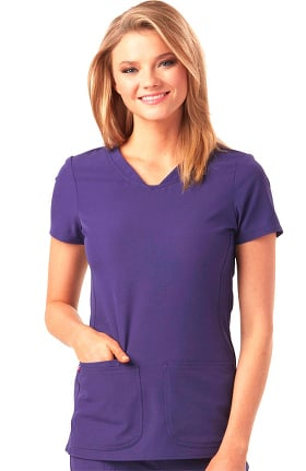 Break On Through by heartsoul Women's Pitter-Pat V-Neck Solid Scrub Top