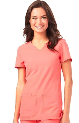Clearance Break On Through by heartsoul Women's Pitter-Pat V-Neck Solid Scrub Top
