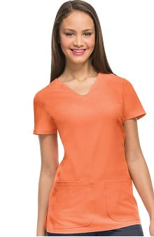 Clearance Break On Through by heartsoul Women's Pitter-Pat V-Neck Scrub Top