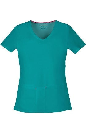 Clearance Shine On! by heartsoul Women's True Love V-Neck Solid Scrub Top