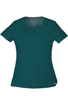 Clearance Picture Perfect by heartsoul Women's Romance Keyhole Scrub Top
