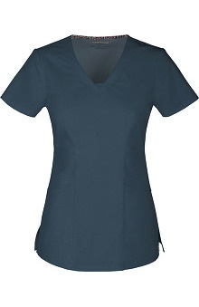 Clearance Picture Perfect by heartsoul Women's Dreamer V-Neck Solid Scrub Top