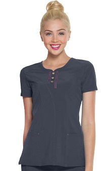 Shine On! by heartsoul Women's Ever After Round Neck Solid Scrub Top