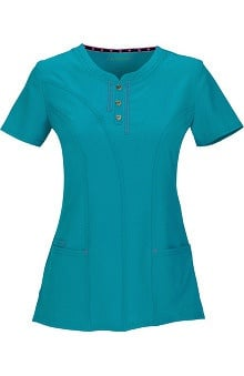 Clearance Shine On! by heartsoul Women's Ever After Round Neck Solid Scrub Top