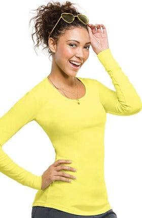 Clearance heartsoul Women's Round Neck Long Sleeve T-Shirt
