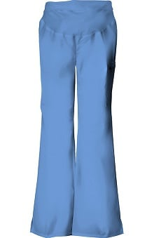 tall: Flexibles by Cherokee Women's Maternity Flare Leg Solid Scrub Pants