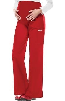 Flexibles by Cherokee Women's Maternity Flare Leg Solid Scrub Pants