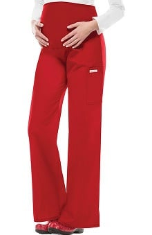 Clearance Flexibles by Cherokee Women's Maternity Flare Leg Solid Scrub Pants