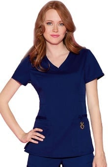 Head Over Heels by Heartsoul With Antimicrobial Certainty Women's Beloved V-Neck Scrub Top