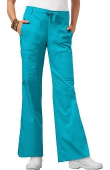 Luxe by Cherokee Women's Junior Flare Leg Drawstring Scrub Pant