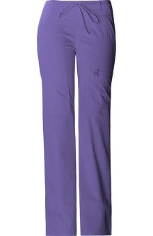petite: Luxe by Cherokee Women's Junior Flare Leg Drawstring Pant