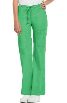 Clearance Luxe by Cherokee Women's Junior Flare Leg Drawstring Scrub Pant