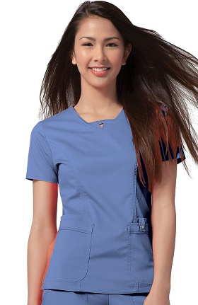 Clearance Luxe by Cherokee Women's V-Neck Solid Scrub Top