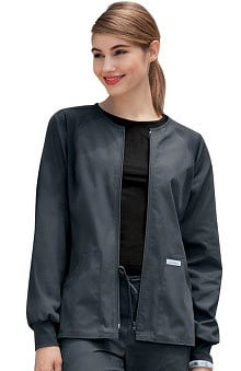 Flexibles by Cherokee Women's Zip Front Warm Up Scrub Jacket