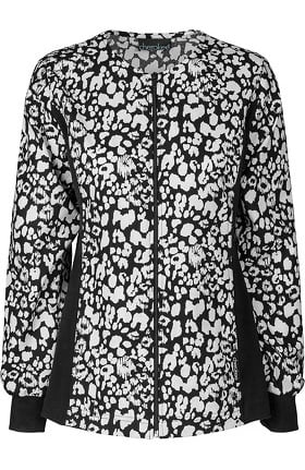 Clearance Flexibles by Cherokee Women's Zipper Front Flex Print Jacket