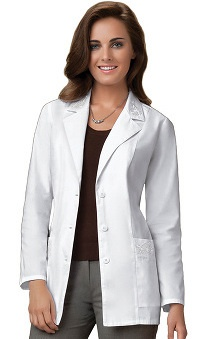 "Cherokee Women's Embroidered 30"" Lab Coat"