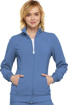 Infinity by Cherokee Women's Zip Front Warm Up Solid Scrub Jacket