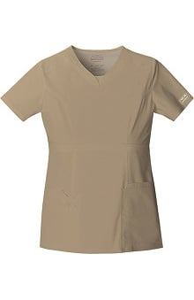 Clearance Core Stretch by Cherokee Workwear Women's Empire V-Neck Top