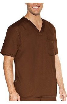 unisex tops: Skechers by Cherokee Unisex Solid Scrub Top