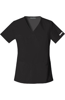 Clearance Flexibles by Cherokee Women's V-Neck Solid Scrub Top with Side Panels