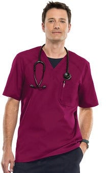 Flexibles by Cherokee Men's V-Neck Solid Scrub Top