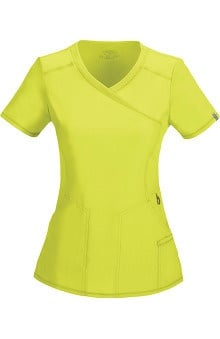 Clearance Infinity by Cherokee with Antimicrobial Certainty Women's Mock Wrap Solid Scrub Top