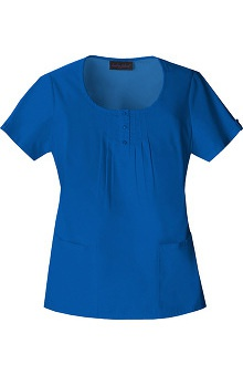 Clearance Baby Phat by Cherokee Women's Scoop Neck Solid Scrub Top