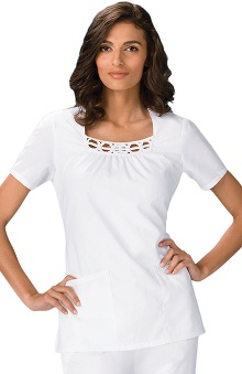 Cherokee Women's Square Neck Solid Scrub Top