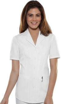 Clearance Cherokee Women's Lapel Collar Nurse's Solid Scrub Top
