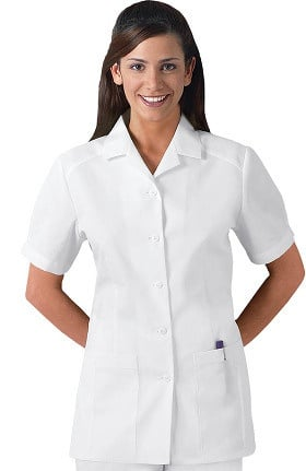 Cherokee Women's Nurse's Pleated Solid Scrub Top
