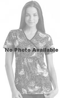 firefighter print: Flexibles by Cherokee Women's Mock Wrap Print Scrub Top