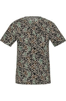 Cherokee Unisex V-Neck Animal Print Scrub Top