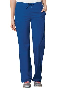 Clearance WW Flex by Cherokee Workwear with Certainty Antimicrobial Fabric Technology Unisex Straight Leg Drawstring Scrub Pant