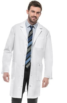 "code happy with Antimicobial and Fluid Barrier Certainty Plus Unisex 38"" Lab Coat"