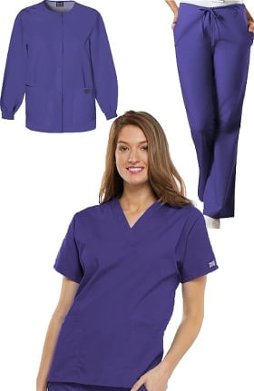 Cherokee Workwear Women's 3-Piece Scrub Set