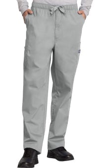 MED: Cherokee Workwear Men's Cargo with Zip Fly Scrub Pants