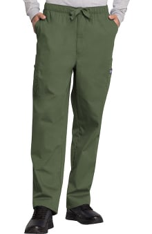 Cherokee Workwear Men's Drawstring Cargo Scrub Pant