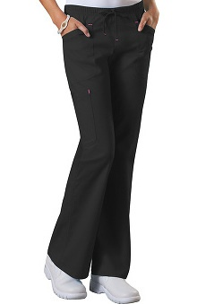 Clearance Core Stretch by Cherokee Workwear Women's 2-Tone Drawstring Scrub Pant