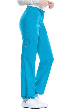 Clearance Core Stretch by Cherokee Workwear Women's Elastic Waist Scrub Pant