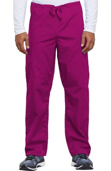 XLG: Cherokee Workwear Unisex Drawstring With Cargo Pocket Scrub Pants