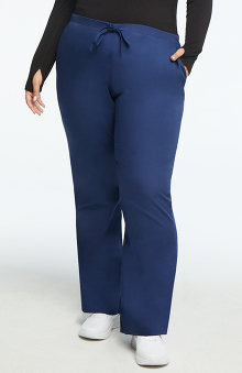 MED: Cherokee Workwear Women's Natural Rise Flare Leg Scrub Pants