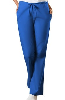 XXS: Cherokee Workwear Women's Natural Rise Flare Leg Scrub Pants