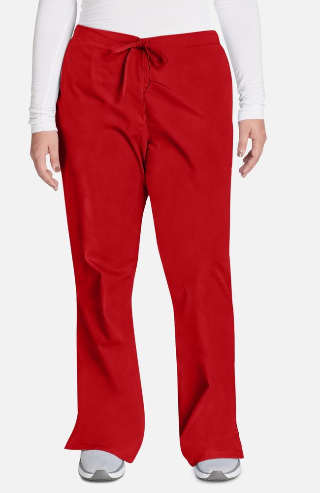 Cherokee Workwear Women S Natural Rise Flare Leg Scrub Pants