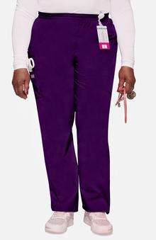 petite: Cherokee Workwear Women's Scrubs Elastic Waist Utility Scrub Pants