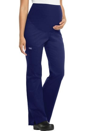 Core Stretch by Cherokee Workwear Women's Maternity Knit Waist Scrub Pant