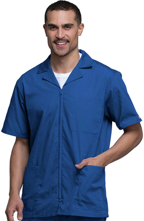Cherokee Workwear Men's Zip Front Solid Scrub Jacket