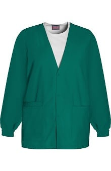 4XL: Cherokee Workwear Women's V-Neck Solid Scrub Jacket