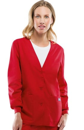 Cherokee Workwear Women's V-Neck Solid Scrub Jacket