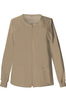 Clearance Core Stretch by Cherokee Workwear Women's Warm Up Solid Scrub Jacket