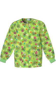 pink ribbon scrubs: Scrub H.Q. by Cherokee Women's Crew Neck Flower Print Jacket
